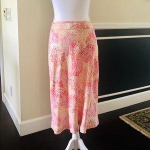 Sigrid Olsen Flower Print Knee-Length Skirt
